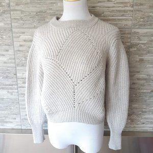 Aritzia Wilfred grey crop sweater